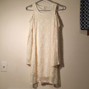 No Comment Dresses - Cold Shoulder Bell Bottom Sleeve Dress